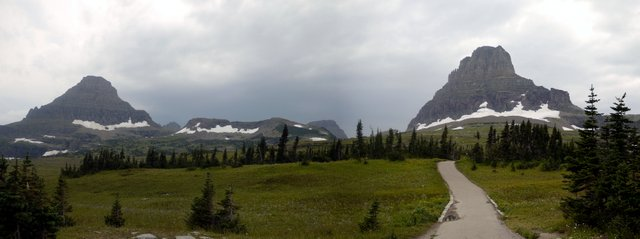 Reynolds Mountain and Heavy Runner Mountain, Glacier National Park, Montana