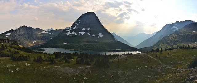 Hidden Lake and Bearhat Mountain, Glacier National Park, Montana