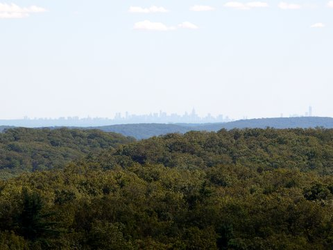 Manhattan skyline from Black Rock Forest, Orange County, New York