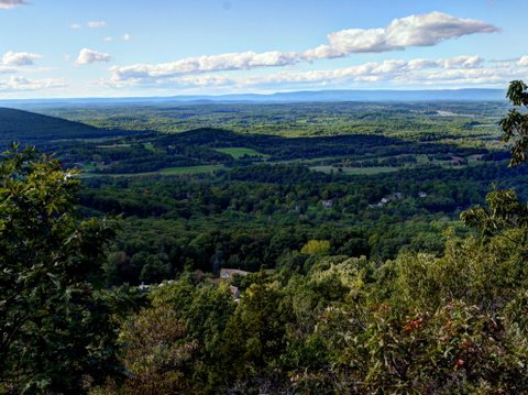 View to the north from Black Rock Forest, Orange County, New York
