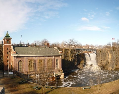 Paterson Great Falls, from Haines Overlook Park