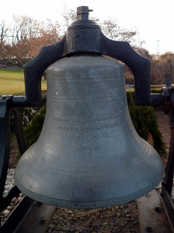1871 Bell from Troy Bell Foundry, at Paterson Great Falls National Historical Park, New Jersey