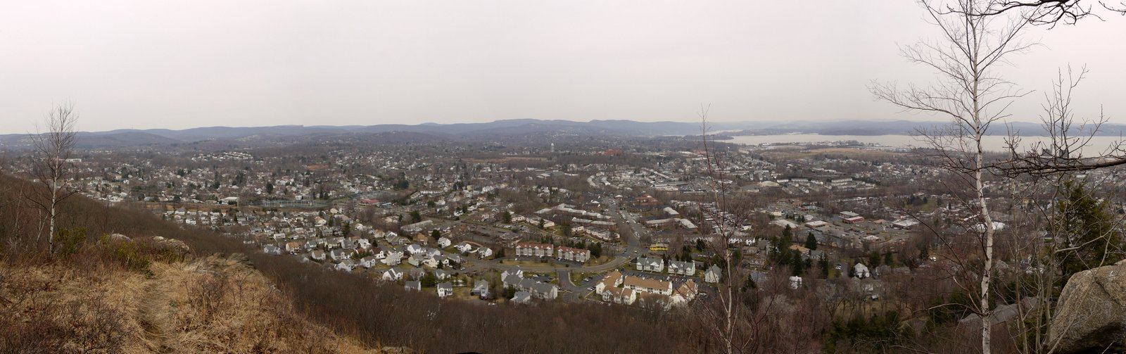West Haverstraw, from Little Tor, in High Tor State Park, NY