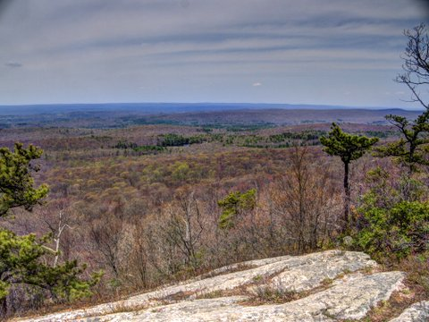 View from Kittatinny Ridge at Intersection of Appalachian Trail and Tower Trail, NJ, Stokes State Forest, NJ