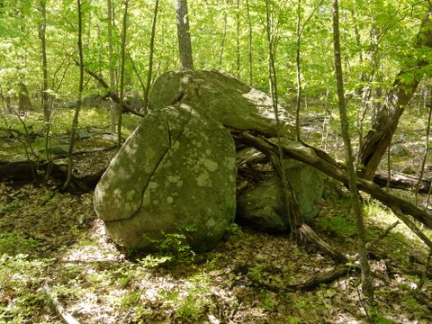 Pile of Boulders on Reeves Brook Trail, Harriman State Park, NY