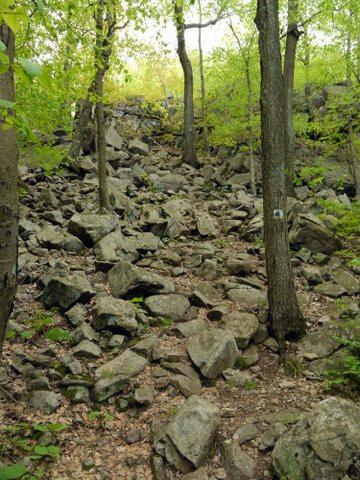 A rocky incline on the Seven Hills Trail, Harriman State Park, NY