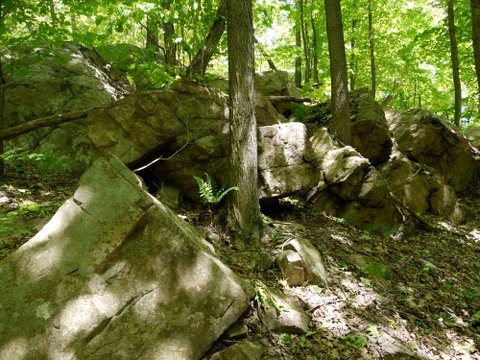 Boulders, Highlands Trail, Tranquility Ridge County Park, Passaic County, NJ