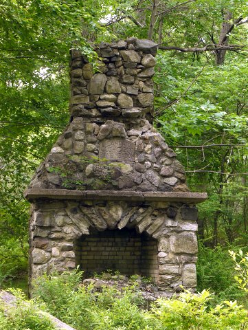 CCC campsite fireplace at Pine Meadow Lake, Harriman State Park, Rockland County, NY