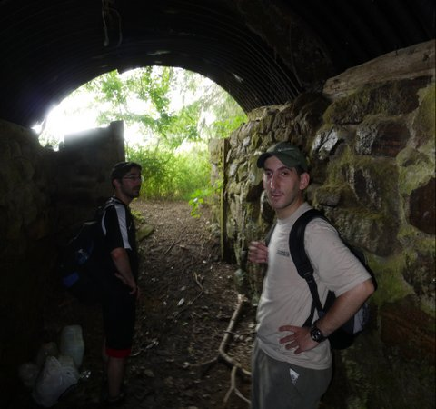 Inside a shelter at Pine Meadow Lake, Harriman State Park, Rockland County, NY