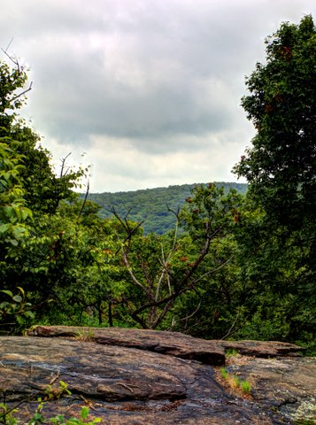Scenic view on Halfway Mountain, Harriman State Park, Rockland County, NY