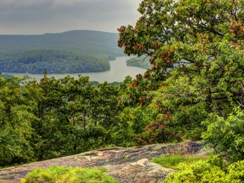 Scenic view on Seven Hills Trail, Harriman State Park, Rockland County, NY
