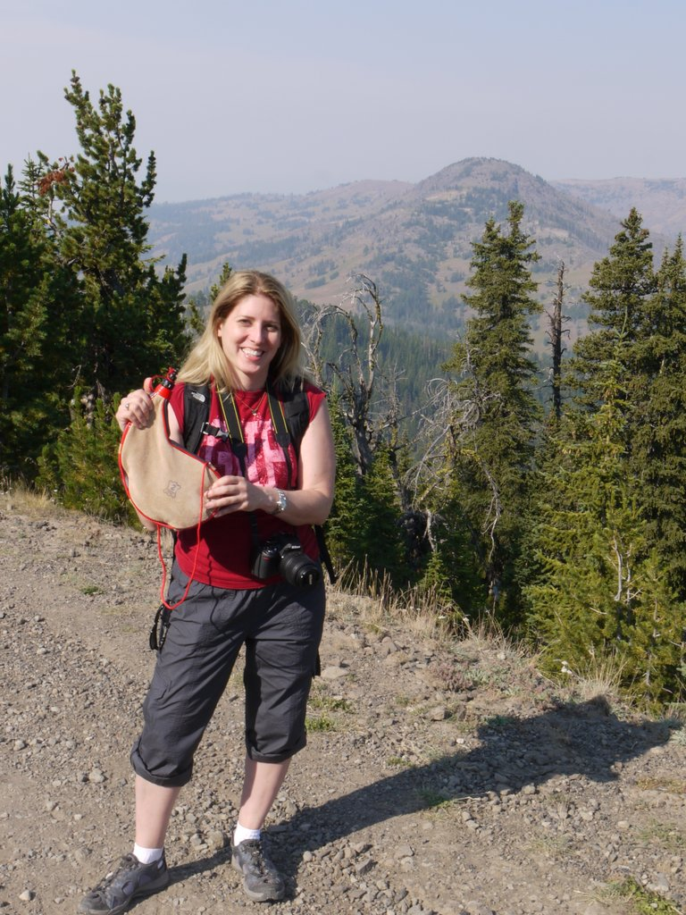 Julie with a Bota Bag, Yellowstone National Park, Wyoming