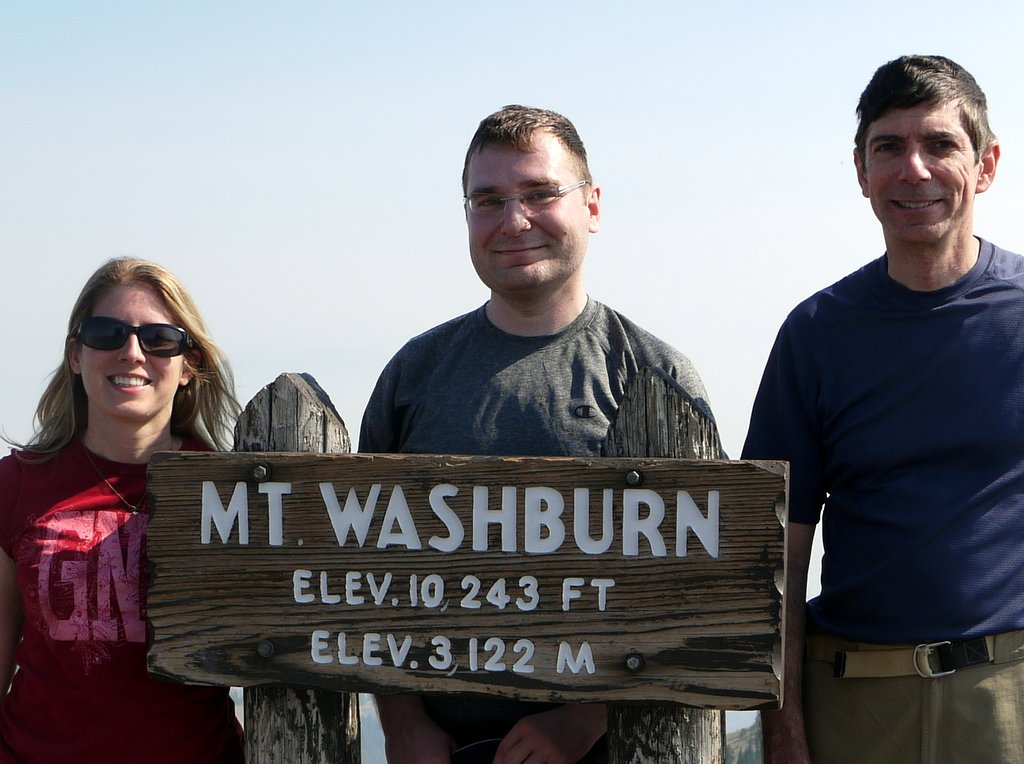 Posing atop Mt. Washburn, Yellowstone National Park, Wyoming