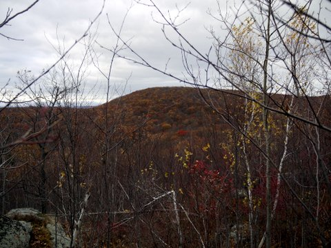 Hilltop seen from Jupiter's Boulder area, Black Rock Forest, Orange County, New York
