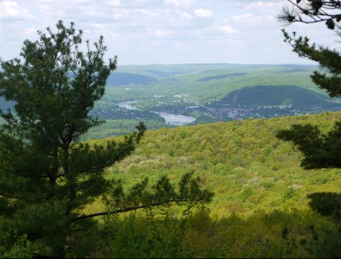 View of Port Jervis, High Point State Park, Sussex County, New Jersey
