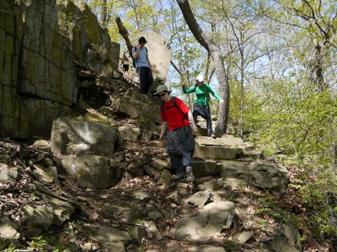 Descending the Long Path, Palisades Interstate Park, Rockland County, New York