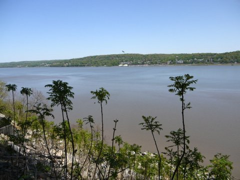 Hudson River from the Giant Stairs, Palisades Interstate Park, Bergen County, New Jersey