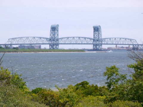 Rockaway Inlet and Marine Parkway Bridge from Shore Parkway, Brooklyn, Kings County, New York