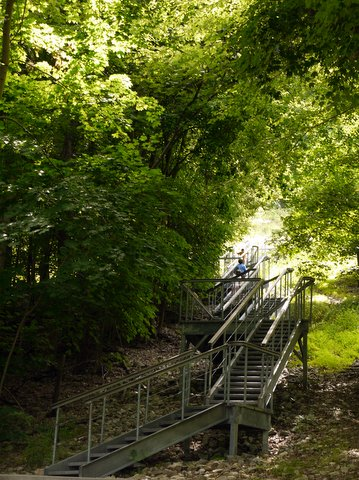Stairs in Mount Beacon Park, Dutchess County, New York