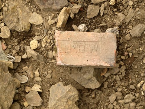 Brick from Denning's Point Brick Works, Dutchess County, New York