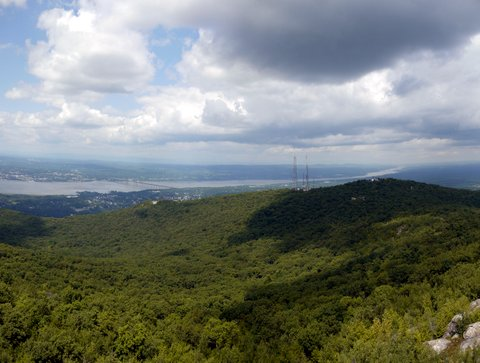 Hudson River panorama from South Beacon Mountain fire tower, Dutchess County, New York