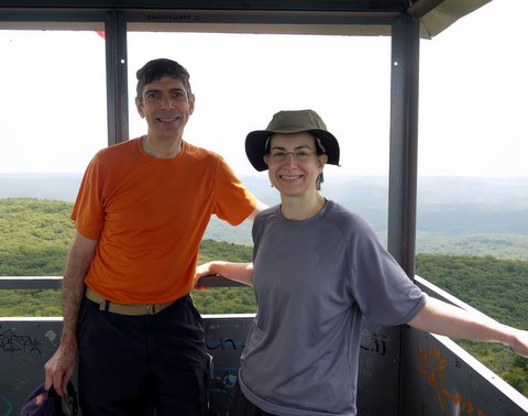 Charlie and Batya, South Beacon Mountain fire tower, Dutchess County, New York