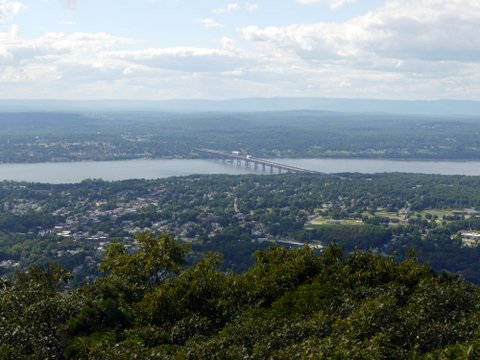 Hudson River, the City of Beacon, and the Newburgh-Beacon Bridge, Dutchess County, New York