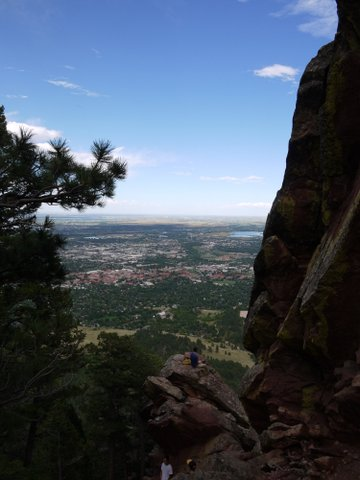 City of Boulder from the First/Second Flatiron Trail, Boulder Mountain Park, Boulder, Colorado