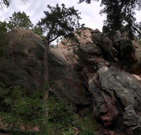 Rock formations on Amphitheater trail, Boulder Mountain Park, Boulder, Colorado