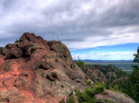 View from Saddle Rock trail, Boulder Mountain Park, Boulder, Colorado