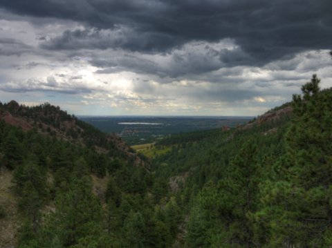 View from Gregory Canyon, Boulder Mountain Park, Boulder, Colorado