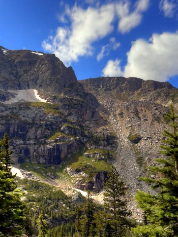 Mountain with steep talus slope, Rocky Mountain National Park, Colorado