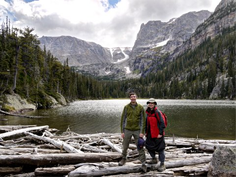 Charlie & Batya at Odessa Lake, Rocky Mountain National Park, Colorado