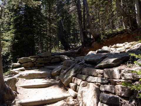 Longs Peak trail and switchback, Rocky Mountain National Park, Colorado