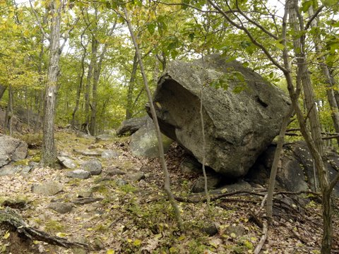 Boulder on the Suffern-Bear Mountain Trail, Harriman State Park, Rockland County, New York