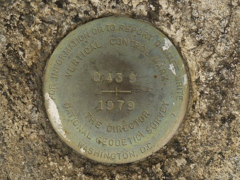 Vertical Control Mark, Harriman State Park, Rockland County, New York