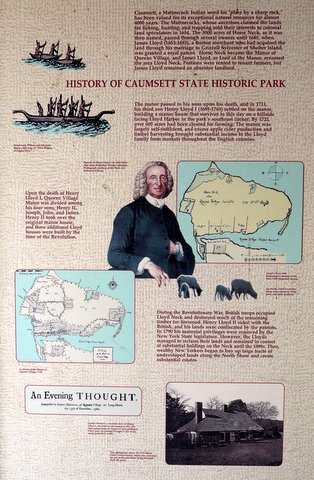 Poster at Caumsett State Historic Park Preserve, Suffolk County, New York