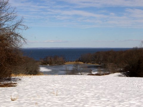 Fresh Pond and Long Island Sound, at Caumsett State Historic Park Preserve, Suffolk County, New York