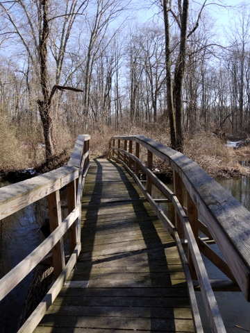 Crooked bridge, Great Swamp National Wildlife Refuge, Morris County, New Jersey