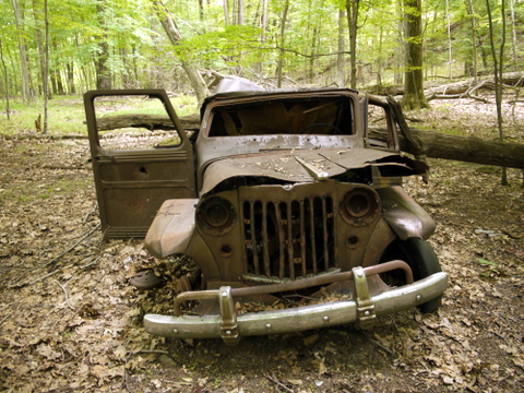 Willys Jeep Station Wagon, Ramapo Mountain State Forest, Bergen & Passaic Counties, New Jersey