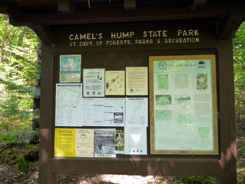 Trailhead kiosk, Camel's Hump State Park, Chittenden & Washington Counties, Vermont