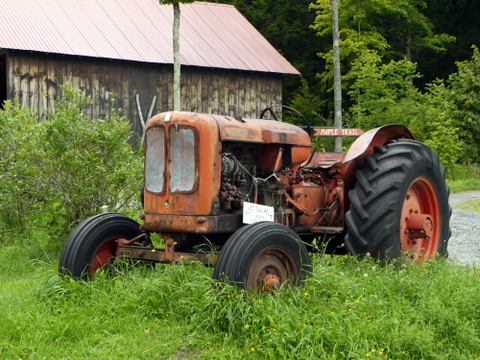 Old tractor, Morse Farm Maple Sugarworks, Montpelier, Washington County, Vermont