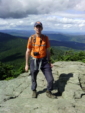 Charlie at the summit, Killington Peak, Rutland County, Vermont