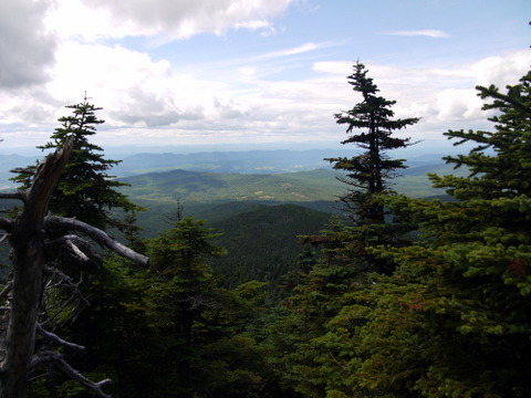 Scenery from the Killington Spur Trail, Killington Peak, Rutland County, Vermont