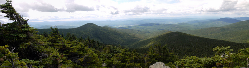 Panorama from the summit, Killington Peak, Rutland County, Vermont