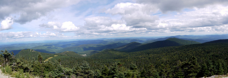 Panorama from restaurant, Killington Peak, Rutland County, Vermont