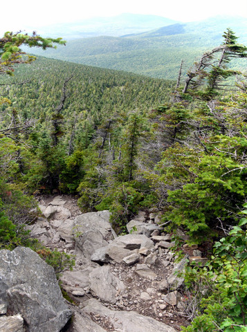 Descending the Killington Spur Trail, Killington Peak, Rutland County, Vermont