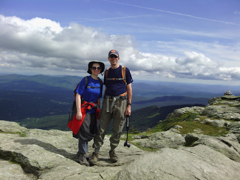 Charlie and Batya at the highest point in Vermont, Mt. Mansfield, Chittenden County, Vermont