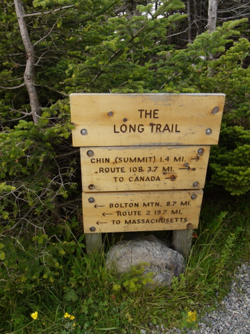 Long Trail sign, Mt. Mansfield, Chittenden County, Vermont