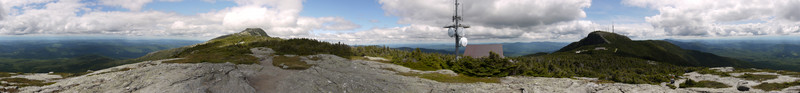 360-degree panorama, Mt. Mansfield, Chittenden County, Vermont